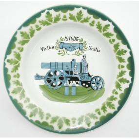 Patriotisches Teller 1914/16 Viribus Unitis