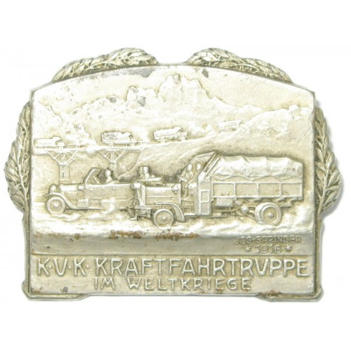 Kappenabzeichen, k. u. k. Kraftfahrtruppe im Weltkriege 1916