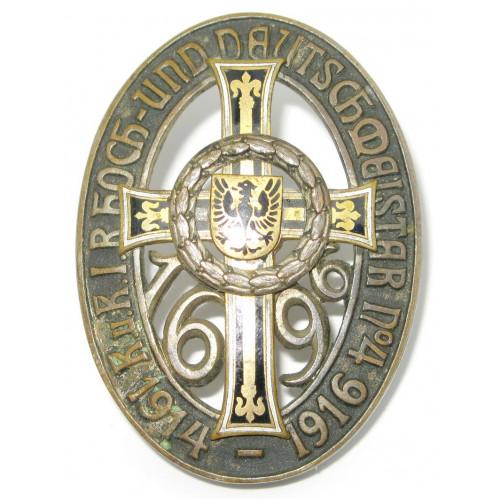 Regimentsabzeichen des k. u. k. IR Nr. 4 Hoch- und Deutschmeister 1914 - 1916