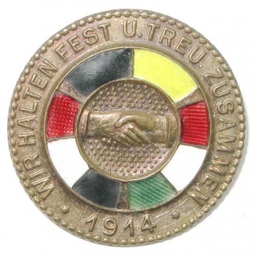 k.u.K. Patriotisches Abzeichen, Wir Halten Fest Zusammen 1914 Die Flaggen der Verbündeten
