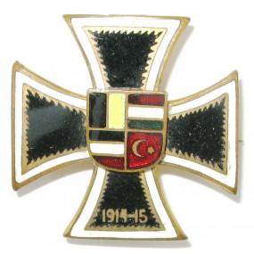 k.u.K. Patriotisches Abzeichen, Eisernes Kreuz 1914-15 mit den  Flaggen der Verbündeten
