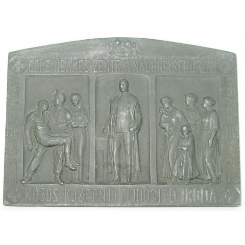 Gemeinsames Zentrale Nachweis Bureau 1914 - 1916 KÖZÖS KÖZPONTI TUDOSITO IRODA