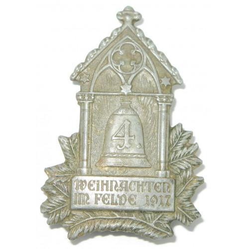 k. u. k. Kappenabzeichen, 4. Weihnachten im Felde 1917