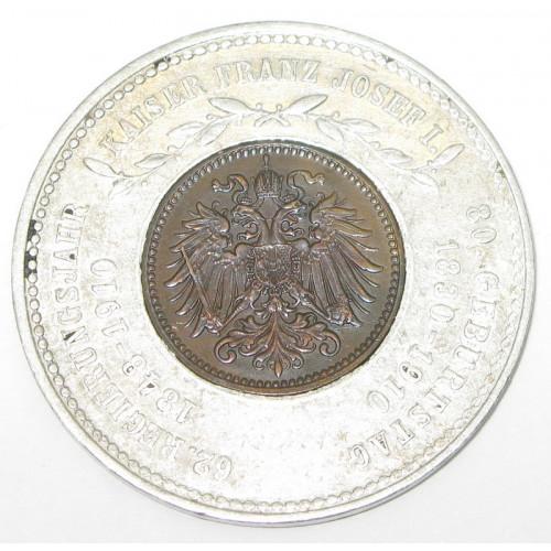 Kaiser Franz Josef I. Glückspfennig 1910