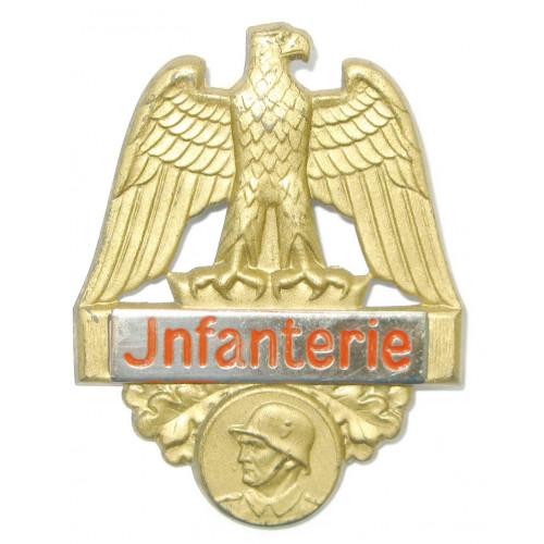 Blechabzeichen, Wehrmacht Musterung Abzeichen - Infanterie