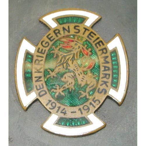 """k.u.k. Patriotische Streichholzschachtel-Hülle """"Den Kriegern Steiermarks 1914 - 1915"""""""
