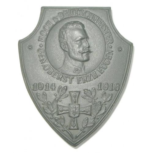k. u. k. Kappenabzeichen, Hoch- und Deutschmeister Gen. Oberst Erzherzog Eugen 1914-1916