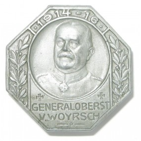 k. u. k. Kappenabzeichen, GENERALOBERST v. WOYRSCH 1914-16