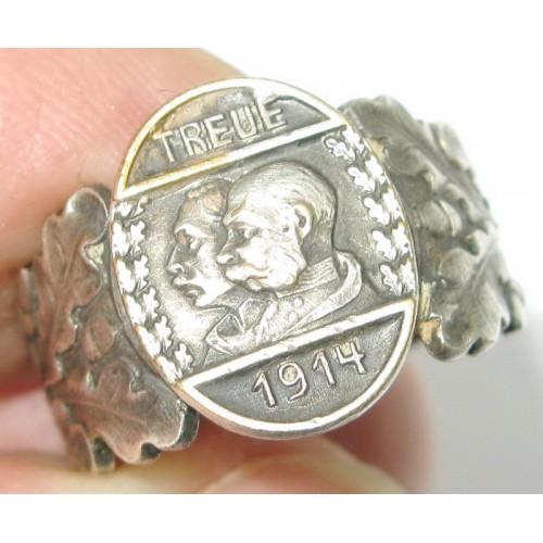 k.u.k. Patriotischer Ring , Kaiser Franz Josef I. und Kaiser Wilhelm II. TREUE 1914