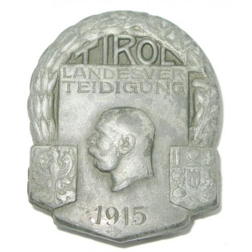 k. u. k. Kappenabzeichen, LANDESVERTEIDIGUNG TIROL 1915
