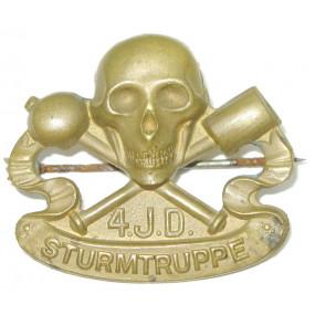 k. u. k. Kappenabzeichen, 4.I.D. STURMTRUPPE