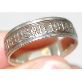 k. u. k. Patriotischer Ring, GOLD GAB ICH FÜR EISEN 1914 SILBERNES KREUZ