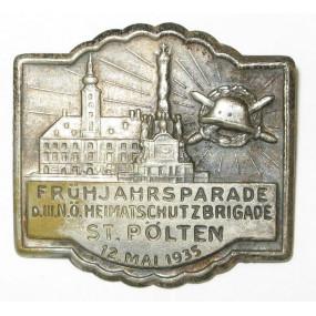 Heimatschutz Niederösterreich, FRÜHJAHRSPARADE D. III. N.Ö. HEIMATSCHUTZBRIGADE ST. PÖLTEN 12. Mai 1935