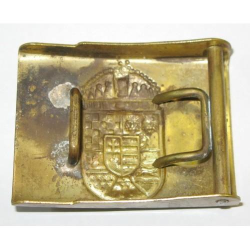 Leibriemenschließe mit ungarischem Wappen