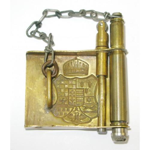 Leibriemenschließe der königlich - ungarischen Landwehr