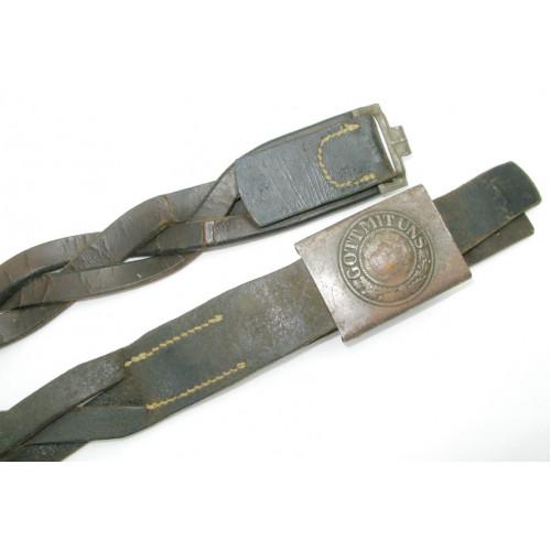 Wehrmacht Koppelriemen mit Koppelschloss