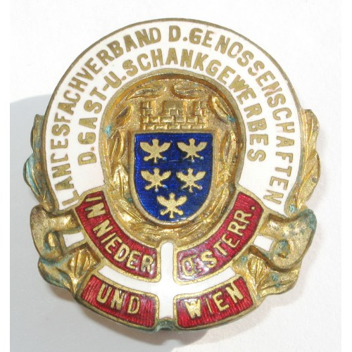 Mitgliedsabzeichen der Genossenschaften Gast- u. Schankgewerbe N.Oe. u. Wien