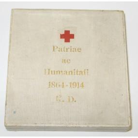 Etui zur Bronzenen Ehrenmedaille vom Roten Kreuz mit KD