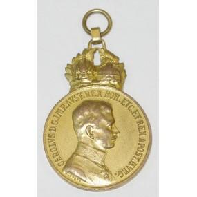 Bronzene Militärverdienstmedaille Signum Laudis Kaiser Karl