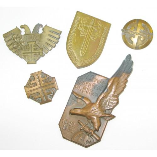 5 Blechabzeichen aus den 20er/30er Jahren