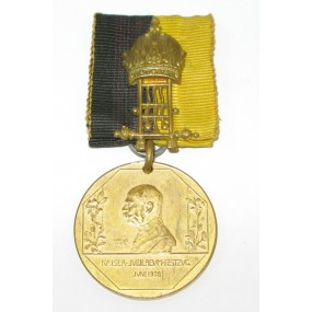 Kaiser Jubiläums Festzugsmedaille 1908