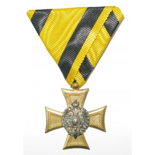 Österreich / K.u.K. Monarchie, Militärdienstzeichen für Offiziere 3. Klasse für 25 Jahre