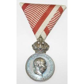 Österreich / K.u.K. Monarchie, Silberne Militärverdienstmedaille Signum Laudis Kaiser Franz Joseph I.