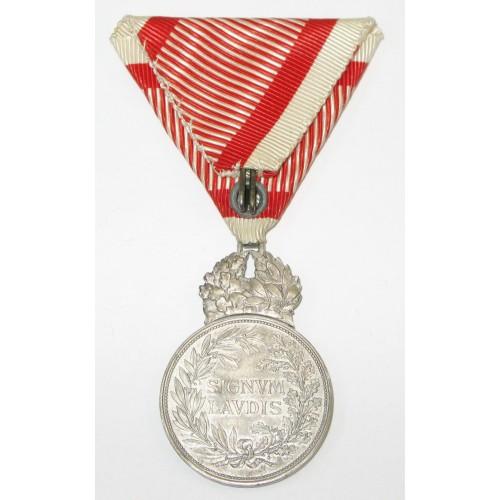 Österreich / K.u.K. Monarchie, Silberne Militärverdienstmedaille Signum Laudis Kaiser Karl