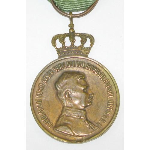 Kaiser Karl I. - Medaille des Lazarusordens