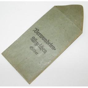 Verleihungstüte Verwundetenabzeichen in Silber Hauptmünzamt Wien