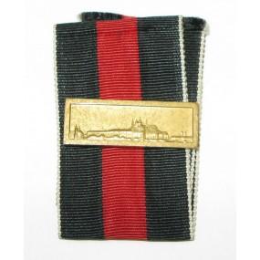 Ordensband für die Medaille 1. Oktober 1938 mit Spange Prager Burg