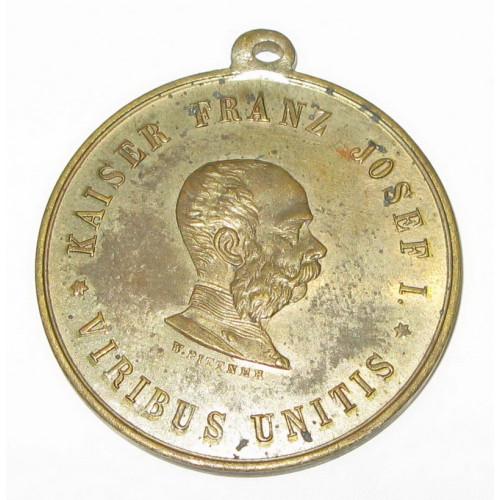 Schützenmedaille Kaiser Franz Josef I. VIRIBUS UNITIS