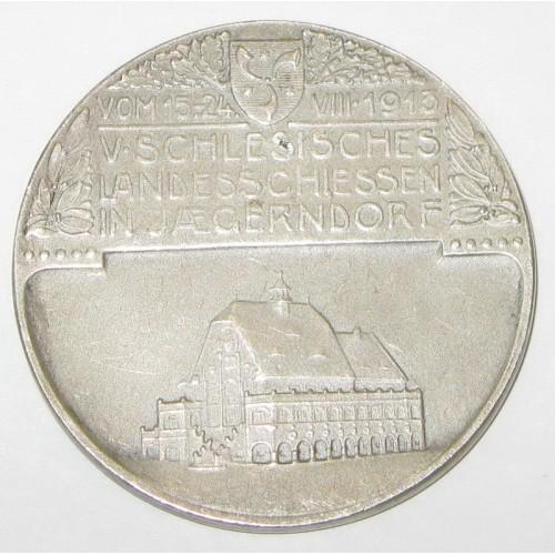 Schützenmedaille 1913 auf das V. Schlesische Landesschießen in Jaegerndorf