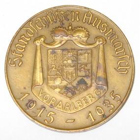 Schützenmedaille, Standschützen Ausmarsch Vorarlberg 1915 - 1935