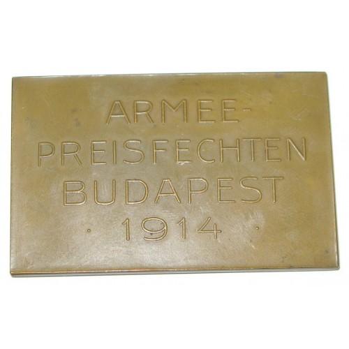 Armee Preisfechten Budapest 1914