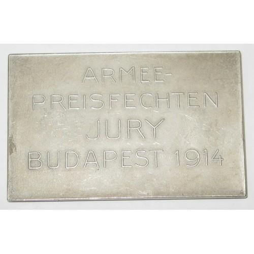 Armee Preisfechten Jury Budapest 1914