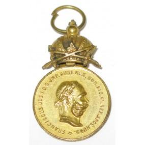 Militärverdienstmedaille, Bronzene MVM/FJI mit Schwertern
