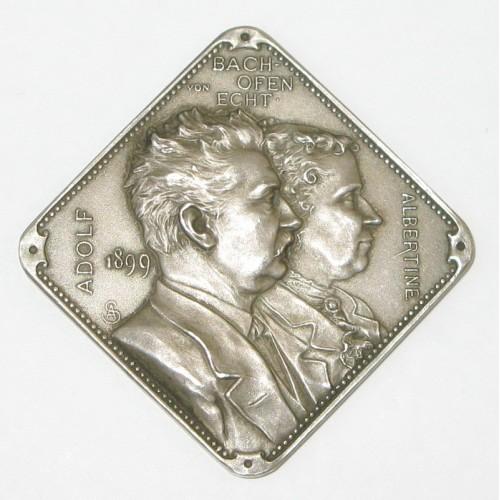 Adolf und Albertine von Bachofen Echt 1899