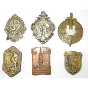 6 Blechabzeichen aus den 30er Jahren HEIMWEHR/TURNERBUND
