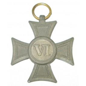 Österreich / K.u.K. Monarchie, Militärdienstzeichen für Unteroffiziere u. Mannschaften 3.Klasse für 6 Jahr