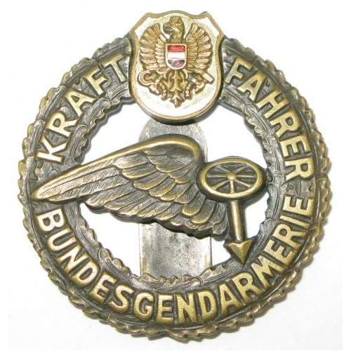 Österreich 2. Republik Abzeichen der Bundesgendarmerie für Kraftfahrer