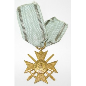 Bulgarien 1. Weltkrieg 1915 Goldenes Verdienstkreuz mit Schwertern am Band
