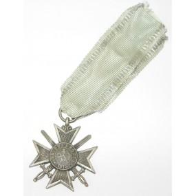 Bulgarien 1. Weltkrieg 1915 Silbernes Verdienstkreuz mit Schwertern am Band