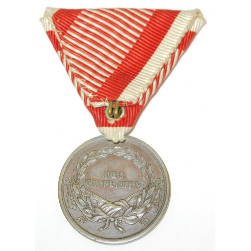 Kaiser Franz Joseph I., Bronzene Tapferkeitsmedaille  2. Klasse