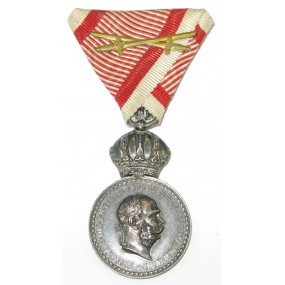 "Silberne Militärverdienstmedaille "" Signum laudis"" Kaiser Franz Joseph I."