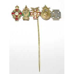 K. u. K. Monarchie - Miniaturspange mit 5 Auszeichnungen