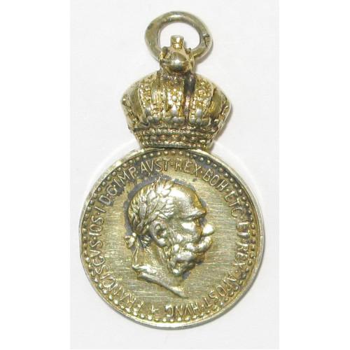 Österreich / K.u.K. Monarchie, Bronzene Militärverdienstmedaille Signum Laudis FJI.