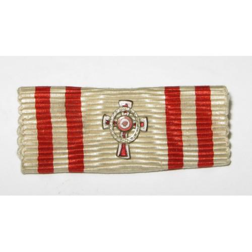 K. u. K. Monarchie -  Kleindekoration - Auflage Ehrenzeichen vom Roten Kreuz mit KD