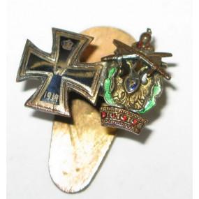 K. u. K. Monarchie - Miniaturspange mit 2 Auszeichnungen