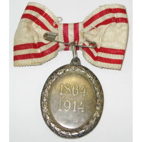Silberne Ehrenmedaille vom Roten Kreuz mit KD